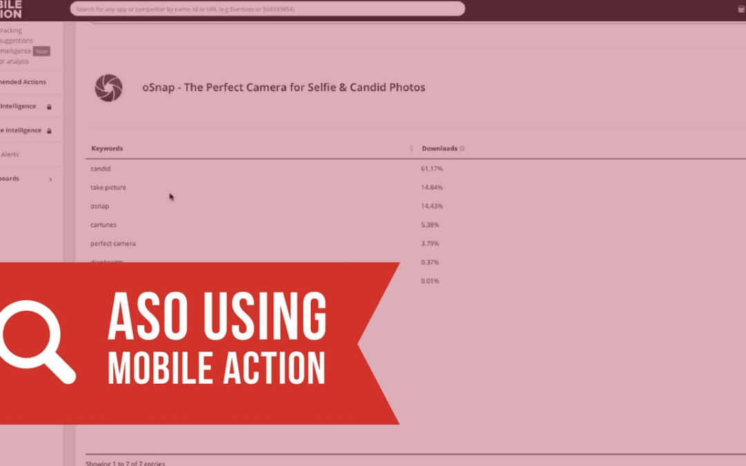 App Store Optimization Using Mobile Action