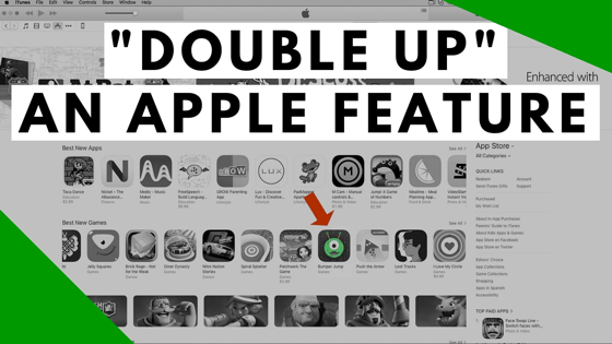 """Double Up"" Your Apple App Store Feature"