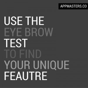 """Use the """"eye brow"""" test to find your unique feature."""